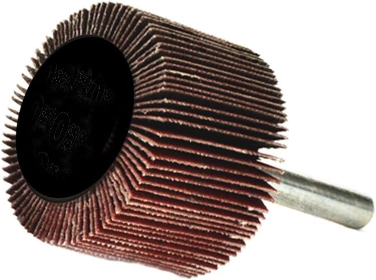 Arc Abrasives 11664 Standard Mounted Shank Flap Wheels 60 Grit 10-Pack 3-Inch x 1-Inch x 1//4-Inch Shank