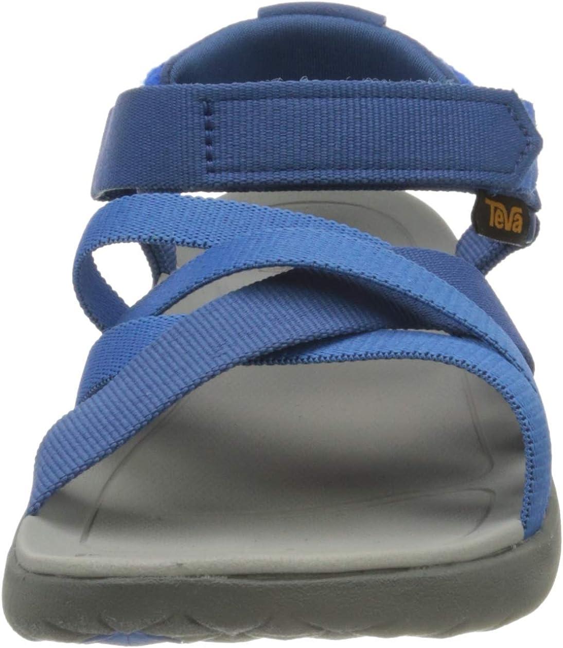 Action Sports (Teva DE) Sanborn Sandal Womens, Sandalias de Talón Abierto para Mujer Azul Dark Blue French Blue Dbfb