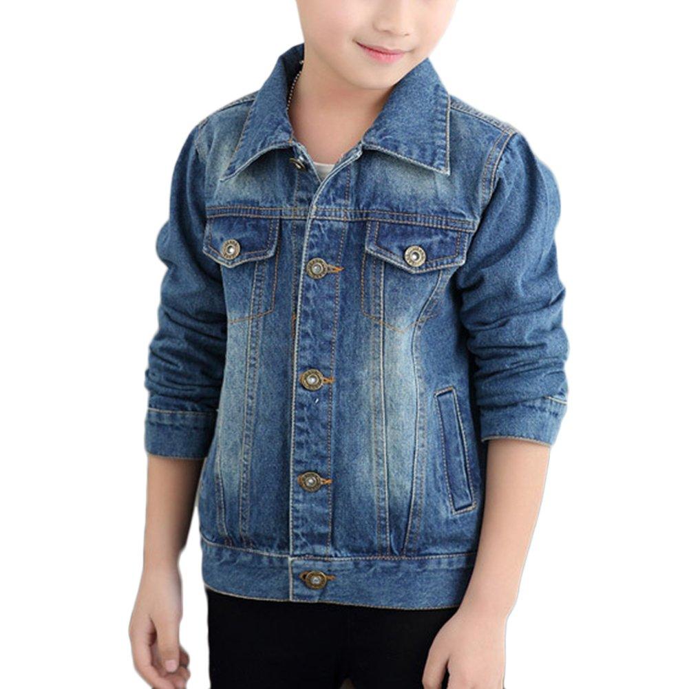 Giacca Di Jeans Bambina Ragazzi Ragazza Denim Giacche Cowboy Cappotti Giubbotto Outerwear Cappotto LaoZan