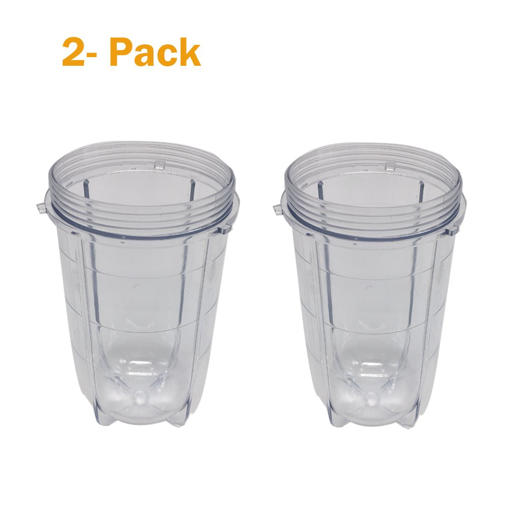 Replacement large cup for magic bullet ,Tall Jar Cups and short bullet Cup Fits Original Magic Bullet Blender Juicer (2, 16oz Tall cup)