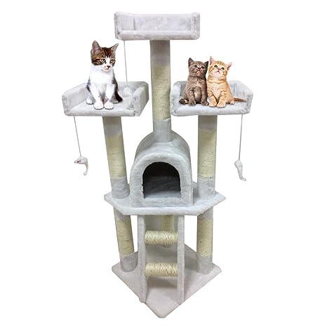 Alterdj - Centro de actividades y rascador para gatos, de alta estabilidad, construido en