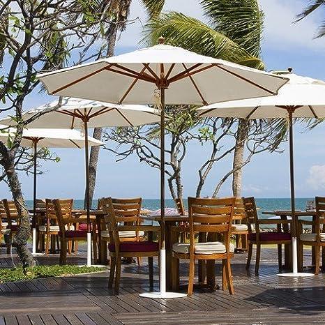 Amazon.com: galtech 9-ft. Diseñador Parasol de Patio de teca ...