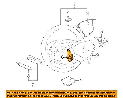 Super Amazon Com Genuine Mitsubishi Remote Steering Wheel Radio Control Wiring Digital Resources Minagakbiperorg