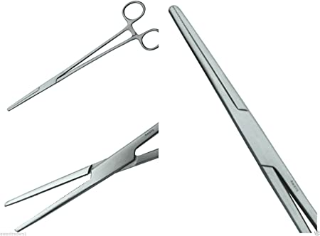 Stainless Steel  Curved 12/'/' Fishing Forceps Unhooking Tools Carp Pike Sea Fly