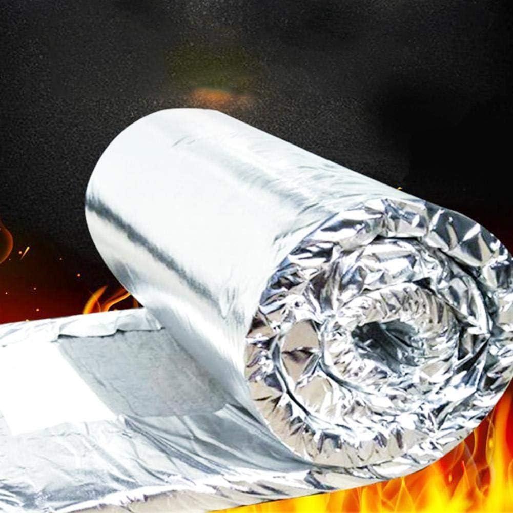 Manta de fibra de cerámica de aluminio con aislamiento de alta temperatura, fibra ignífuga para estufas de madera, chimeneas y agujas, Multicolor, Thickness: 30mm