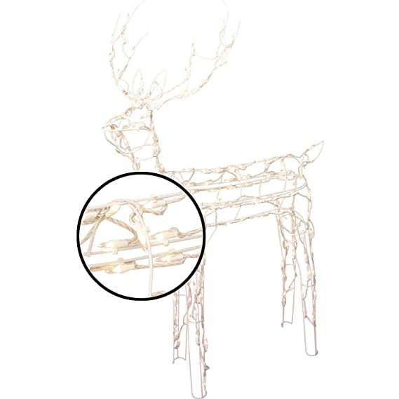 Amazon Com Animated 3 D Wire Standing Buck Reindeer Lighted And