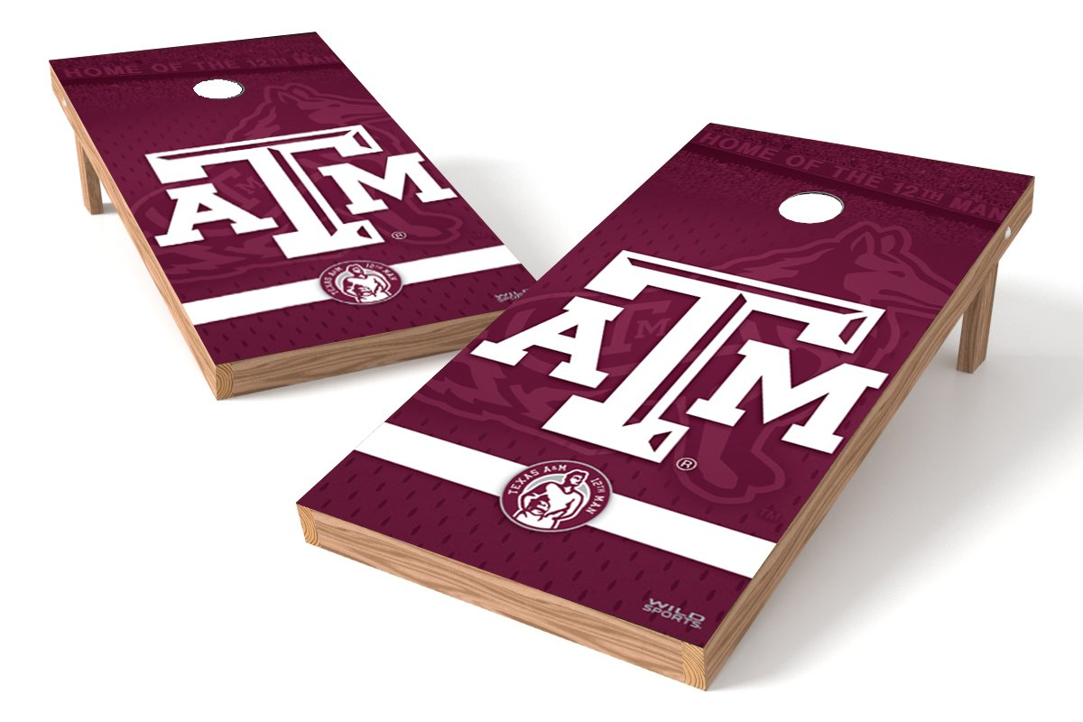 Wild Sports NCAA College Texas A&M Aggies 2' x 4' Authentic Cornhole Game Set