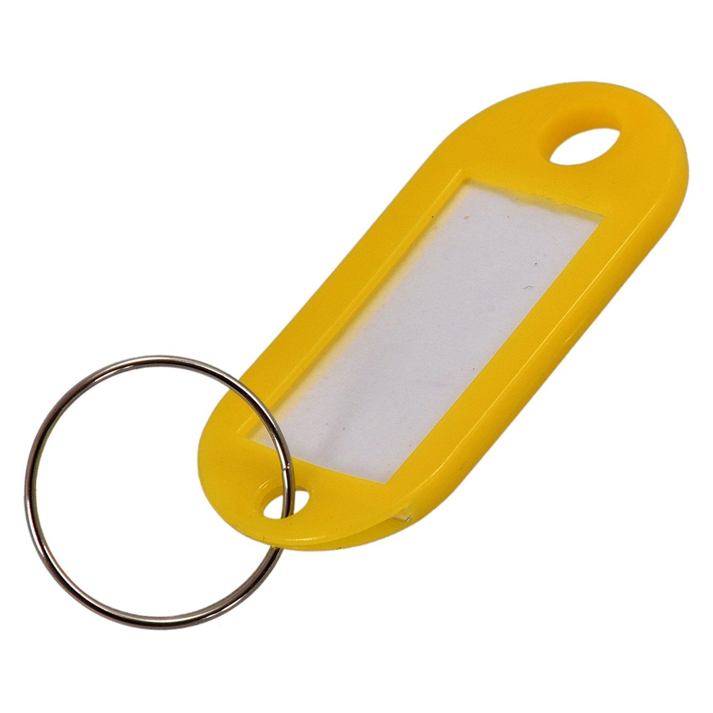 TOOGOO (R) 50 pz targhetta portachiavi ID etichetta nome in plastica