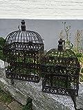 Lot de 2cages à oiseaux/plantes décoratives Style shabby antique