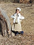 Girls 5-8 The Little Princess coat, muff, and bow
