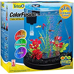 Tetra ColorFusion LED Half Moon Aquarium Kit, 3 Gallons