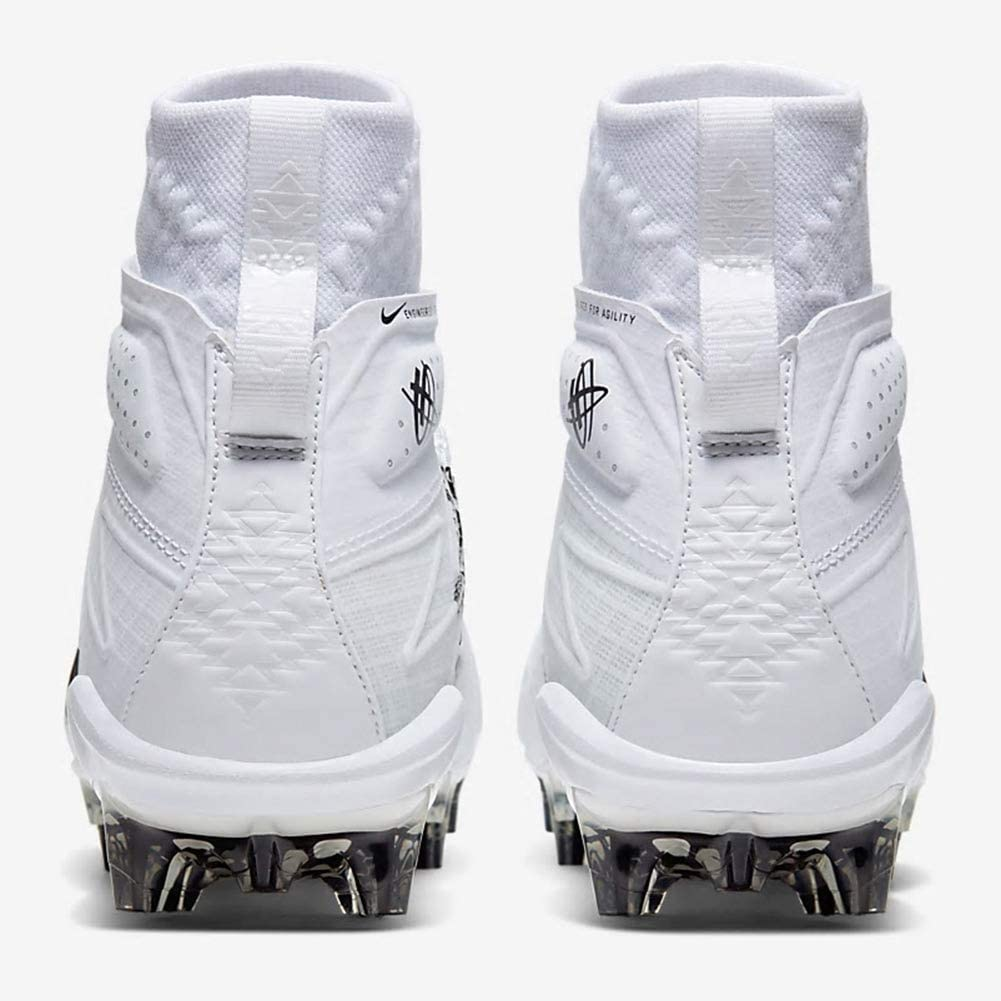 Nike Alpha Huarache 7 Elite Lax Mens Football Cleats Cj0224-100 Size 13 White//Black-Black