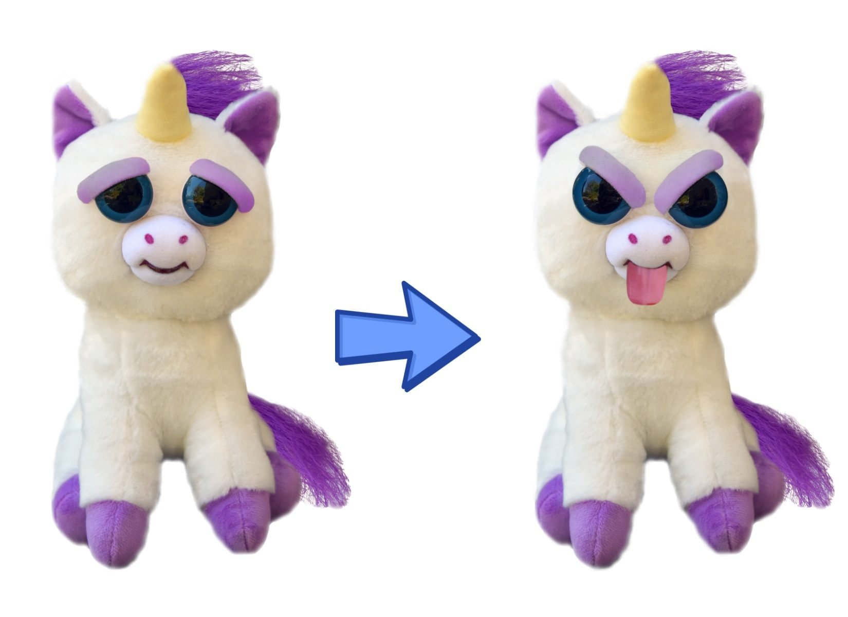 Feisty Pets Expressions, Glenda Glitterpoop, Plush Stuffed Pet Animal That Sticks Her Tongue Out With a Squeeze by Feisty Pets