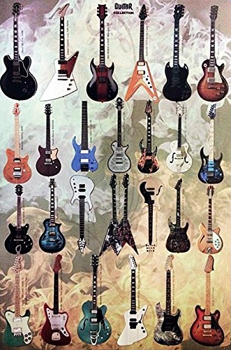 O-33038 Guitars Collection Poster Size 24