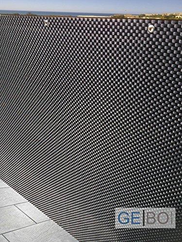 Rattan Sichtschutz| Balkonblende|Sichtschutz SCHWARZ