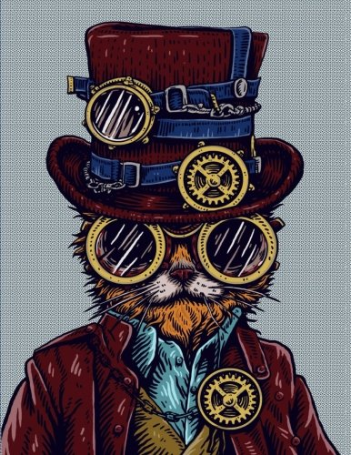 Steampunk Cat Weekly Planner and Monthly Calendar with Motivational Quotes (8.5 x 11) (2018 Planner and - Sunglasses Monthly