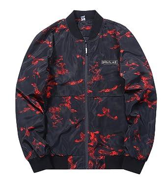 Hombre Chaqueta Bomber Jacket Abrigo Chaqueta Ligera de Camuflaje