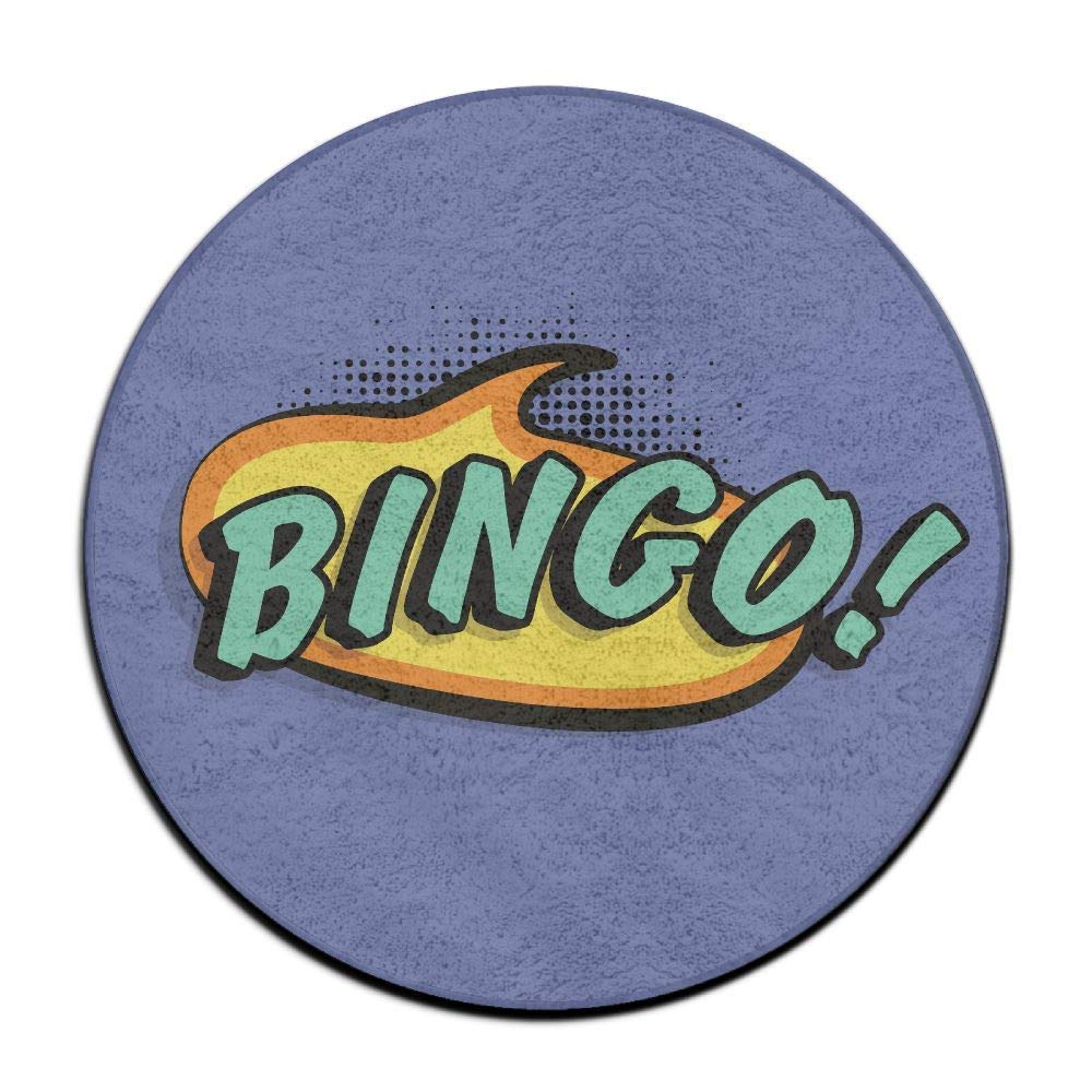 si fang 23.6'' Round Area Rug Anti-Skid Bingo Floor Mat Soft Carpet Home Decorate Office Chair Pile