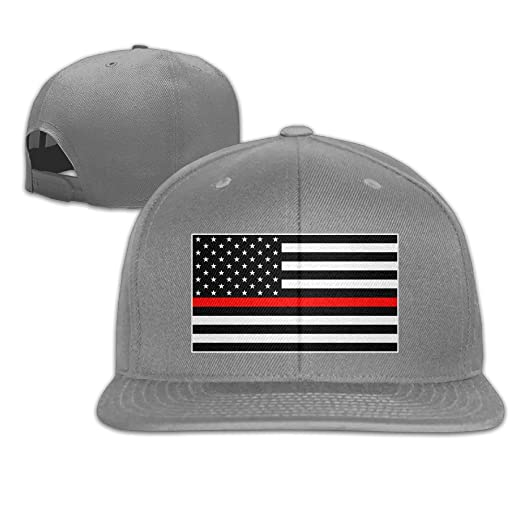 d1d4e4de28e34c Image Unavailable. Image not available for. Color: American Flag Thin Red  Line Trucker Hat ...