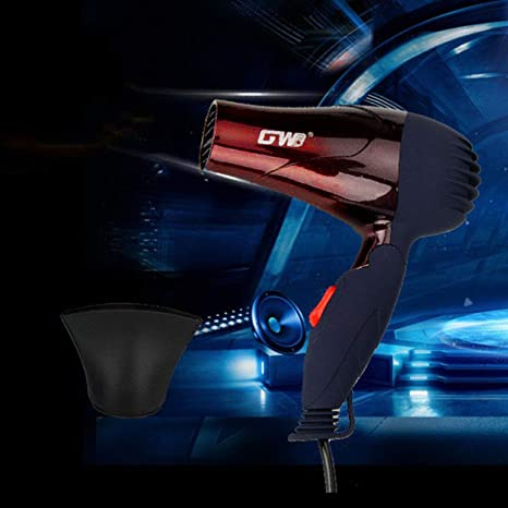 Lorenlli Ajuste GW-555 1500W Mini secador de pelo portátil plegable plegable de bajo consumo