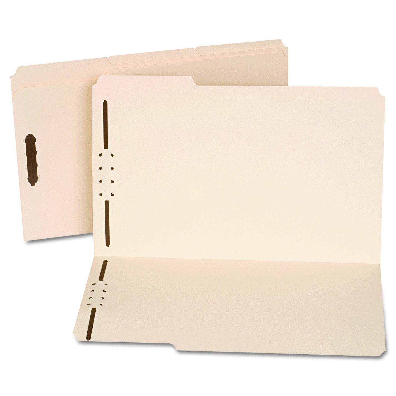 Manila Folders, Two Fasteners, 1/3 Tab, Legal, 50/Box, Sold as 1 Box