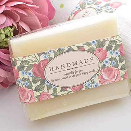 soap labels stickers wrapping materials hand made soap gift packaging boxes bags 20sheets country rose