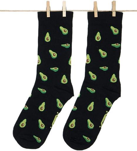 Roits Calcetines Aguacates Negros - Calcetines Originales Dibujos Divertidos Hombre y Mujer: Amazon.es: Ropa y accesorios