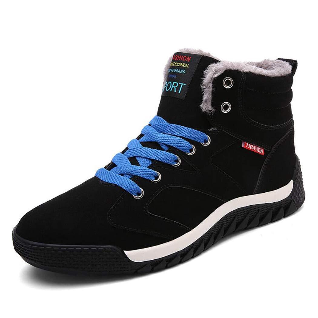 XxoSchuhe Herren Hoch Hilfe Plus SAMT Schuhe Outdoor Freizeit Warme Baumwolle Schuhe Rutschfeste verschleißfeste Schneeschuhe