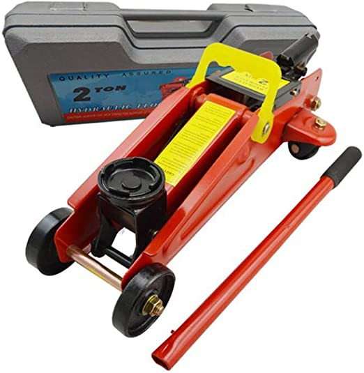 2T Heavy Duty Hydraulic Trolley Floor Jack Car Van Quick Lifting With Portable Case Easy Operation Safety Protection