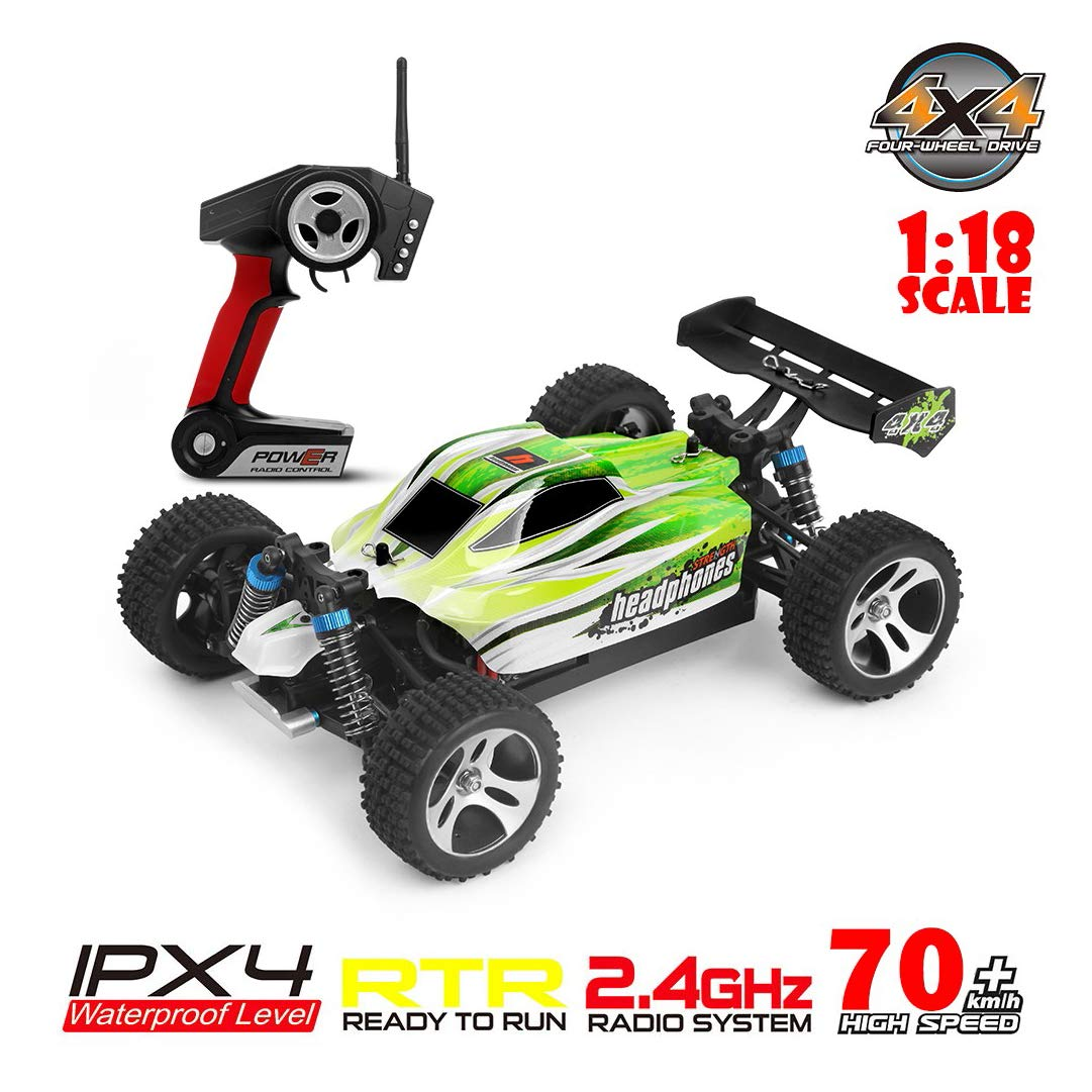 ASfairy WLtoys A959-B 1:18 RC Car 2.4G 4WD High Speed 70km/h Off-Road Race Buggy Toy Gift | Remote Control Car Off-Road Motor Vehicle| All Terrain Waterproof Toys Trucks for Kids and Adults by ASfairy