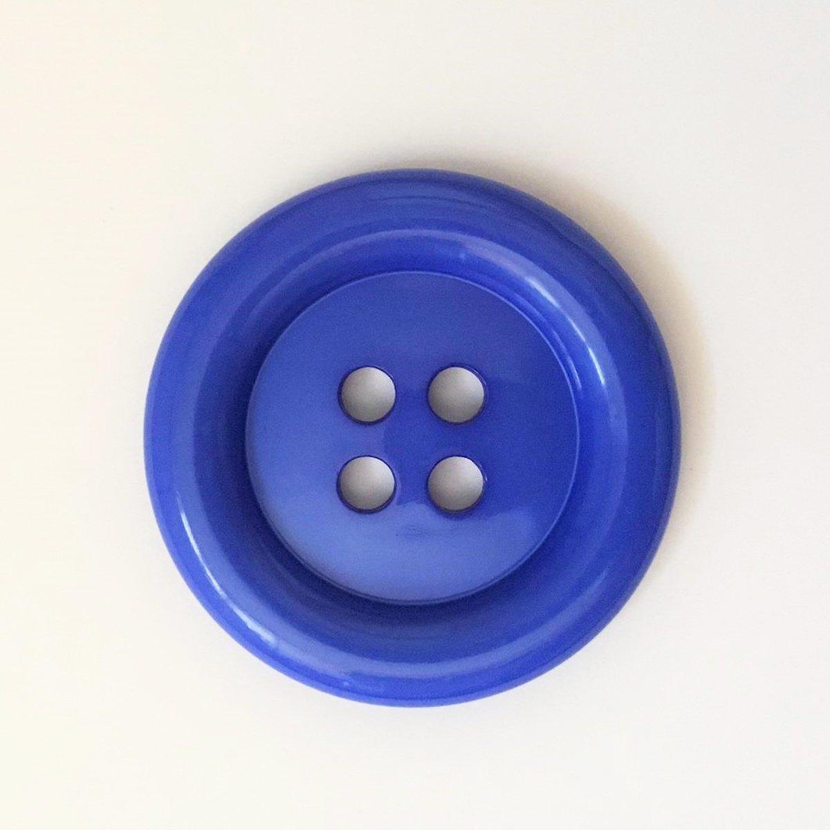 Bleu Roi Vendu /à lUnit/é Gros Boutons Clown 50mm