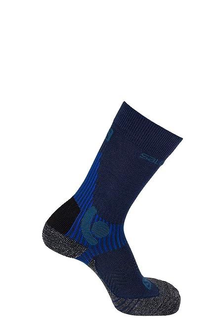 Salomon X ALP Mid 1 Par de Calcetines termorreguladores, Unisex, (Dress Blue)