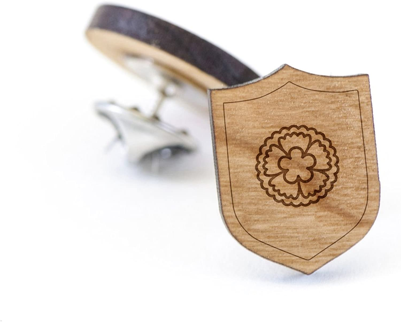 Dianthus Lapel Pin Wooden Pin