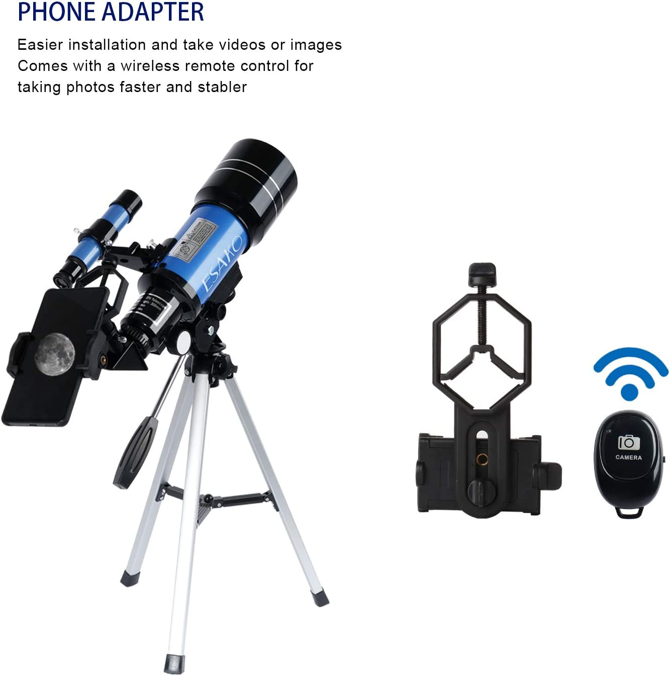 ESAKO Telescopes for Kids & Beginners 70mm Aperture Astronomy ...