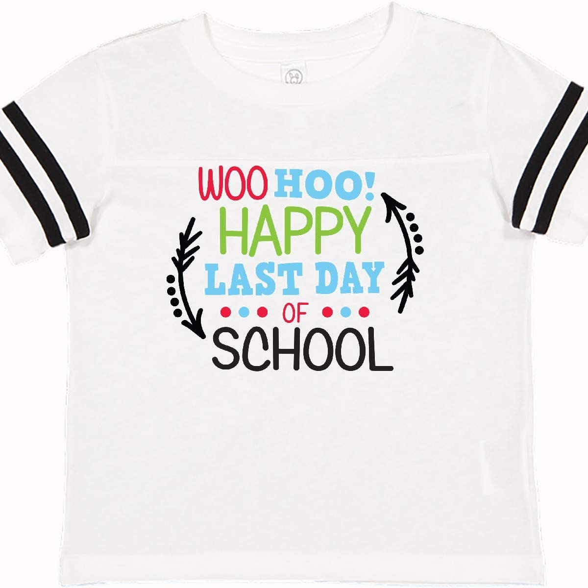 inktastic Woo Hoo Happy Last Day of School with Arrows Toddler T-Shirt