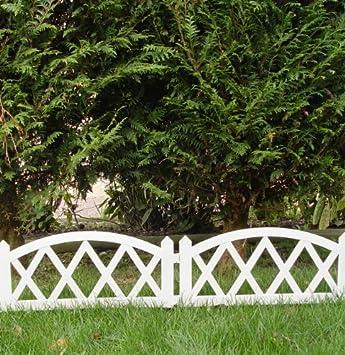 Clôture basse de jardin en PVC 2,40 x 0.35 m barrière: Amazon.fr ...