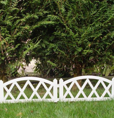 Clôture Basse De Jardin En PVC 2,40 X 0.35 M Barrière: Amazon.fr: Cuisine U0026  Maison