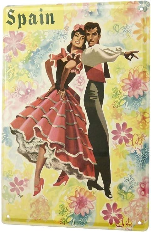LEotiE SINCE 2004 Cartel Letrero de Chapa Trotamundos El Baile Flamenco España: Amazon.es: Hogar