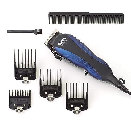 TM Electron TMHC105 - maquinilla cortapelos profesional con cable de red, 4 peines y longitud