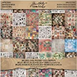 Paper Stash by Tim Holtz Idea-ology, Seasonal Collage, 36 Sheets Double-Sided Cardstock, 8 x 8, Various Sizes, Multicolored, TH93086