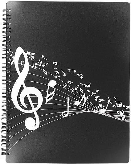 /étudiants musiciens A4 taille 40 pages dossier de musique de feuille dossier de musique de partition de Piano pour les joueurs
