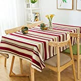 HOMEE European style cotton cloth stripes household table cloth Christmas decorations,B,85X85cm