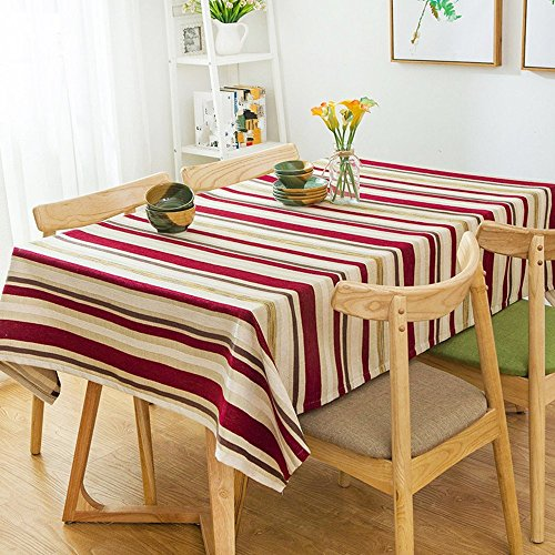 HOMEE European style cotton cloth stripes household table cloth Christmas decorations,B,85X85cm by HOMEE