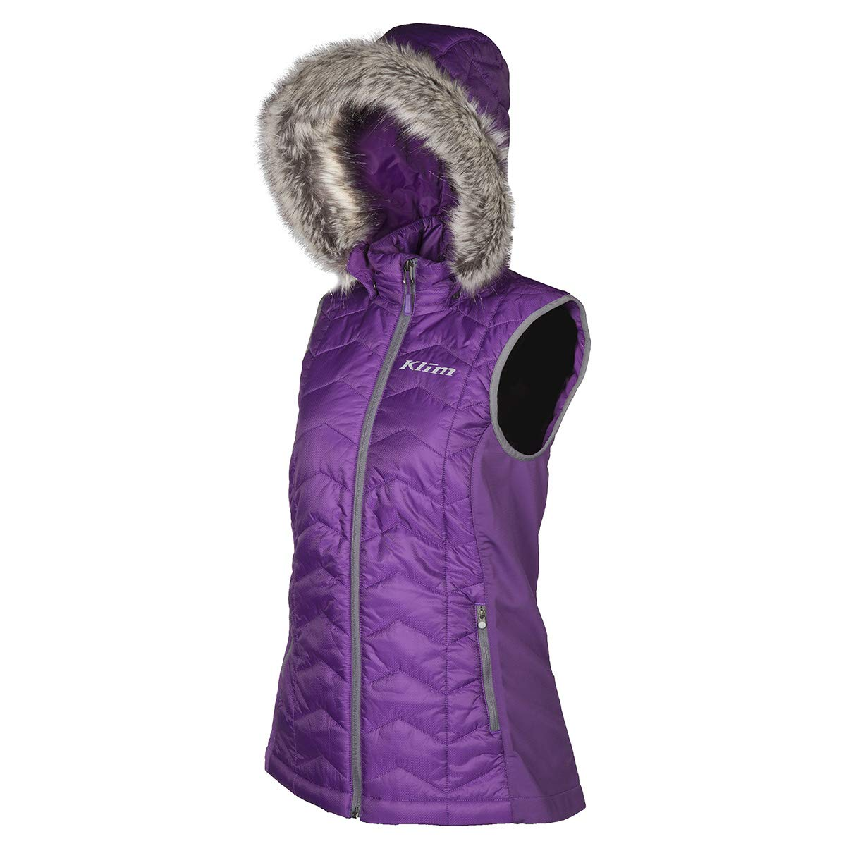 KlimレディースArise Vest with Removable Hood L 4083-001-140-790 B071VFTZ5Y パープル L