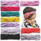 Toptim Baby Headbands Turban Knotted, Girl's Hairbands for Newborn,Toddler and Childrens (mix 10 colors)