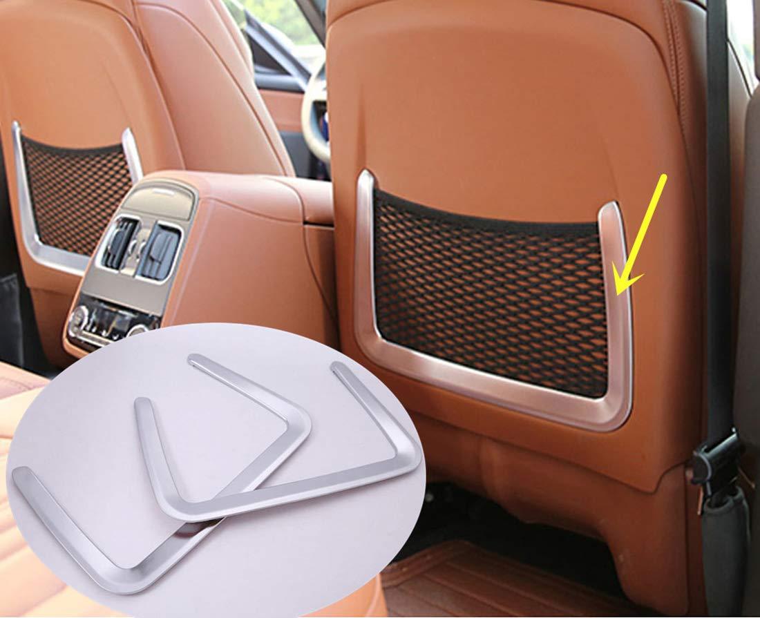 Auto della sella net bag Frame cover Trim auto Accessories ABS cromato 2PCS carwest