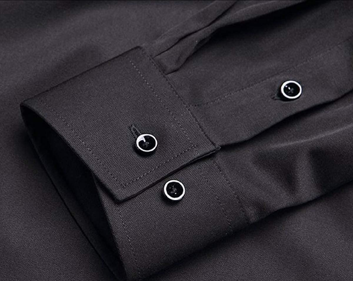 SportsX Men Business Long Sleeve Button Down Work Slim Fashion Shirts