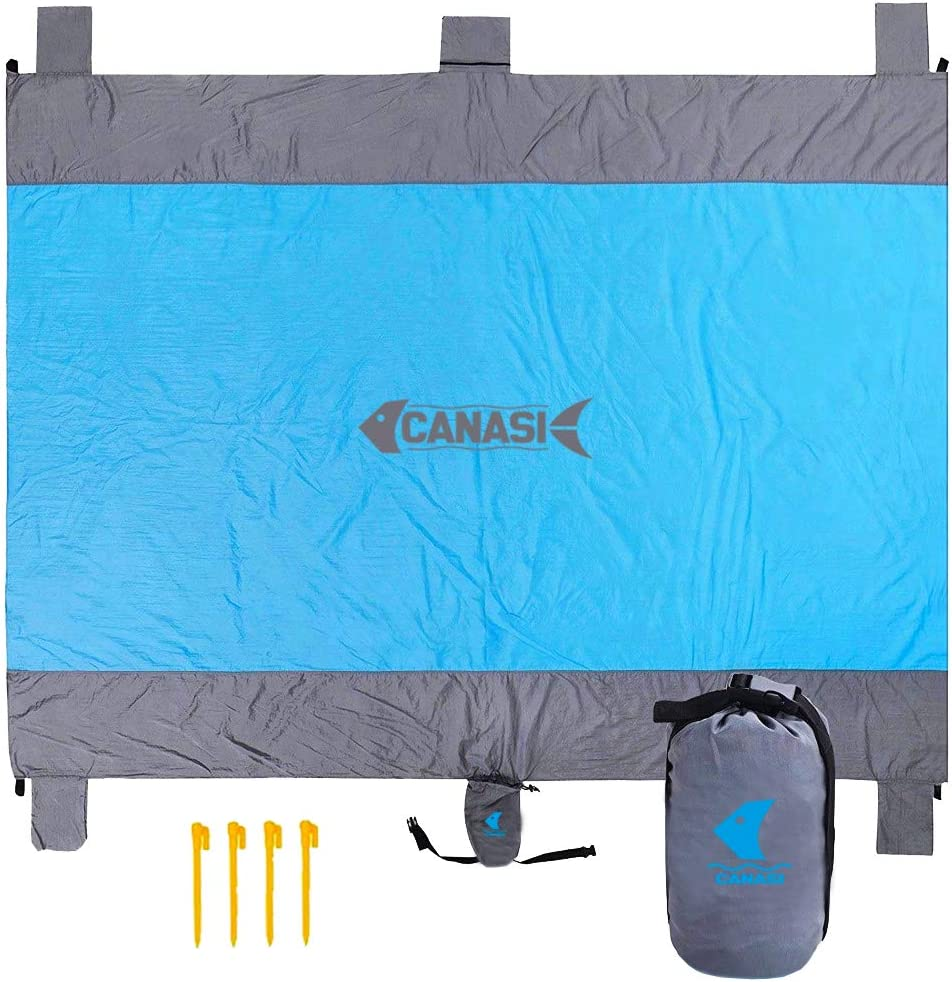 CANASI Beach Mat Sand Free Waterproof Extra Large Family Size 9 ft X 7ft Beach BLANQUET UV Resistant Yoga Picnic Fishing Concert Festival Outdoor Camping Travel Baby Safe Dry Quick