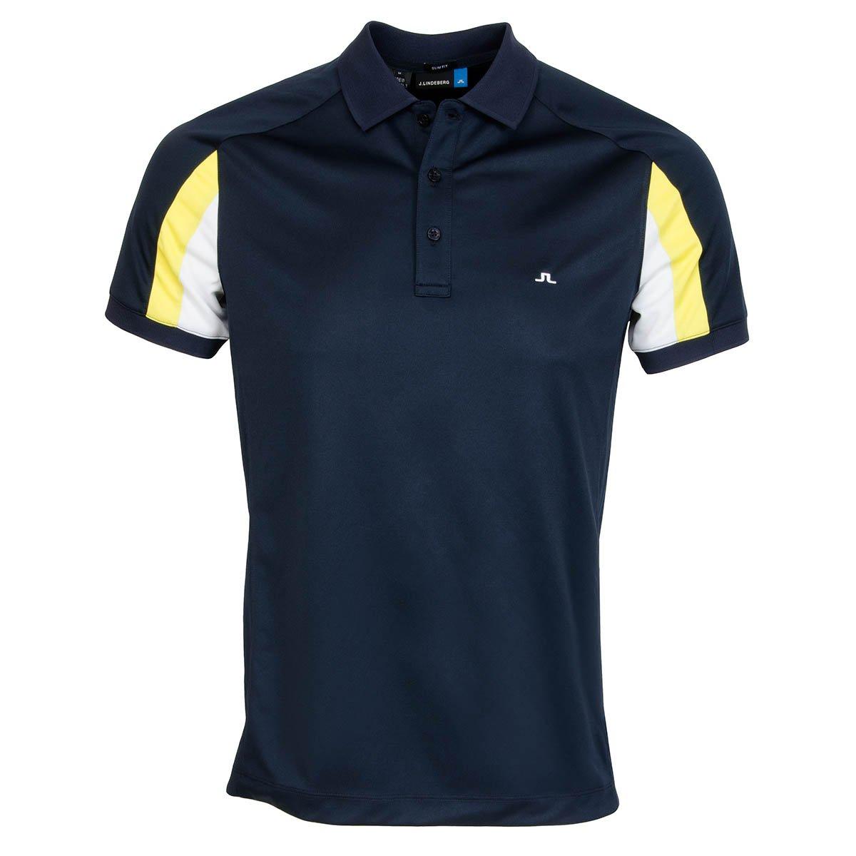 ジェイリンドバーグ ジョエル スリム フィールドセンサー 2.0 半袖ポロシャツ Large ネイビー B06XCYS8CL