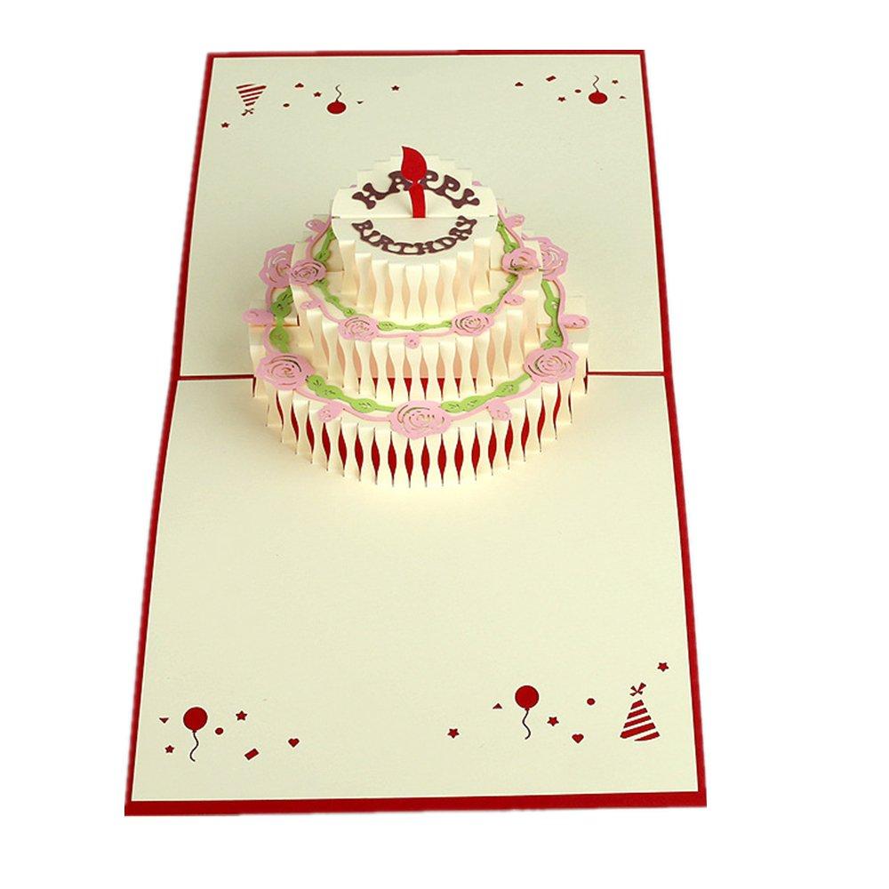 MUROAD Creativo 3D Biglietto di auguriunicorno-3D pop up Biglietti di auguri,Cartolina di Natale,Adatto per compleanno affari e saluti. benedizioni anniversari unicorno